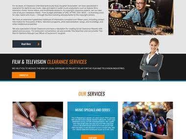 Website Mock up Design - PSD