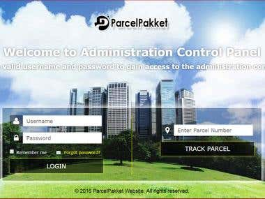 Website for ParcelPakket