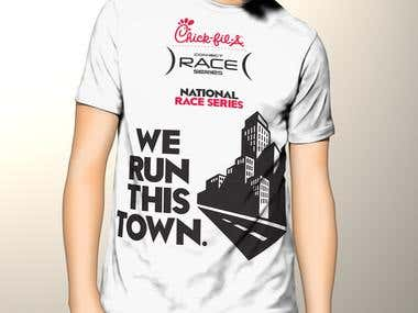 T-Shirt Design for Chick-fil-A marathon