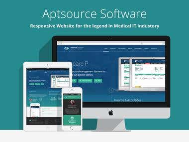 Website for Healthcare Software Developer