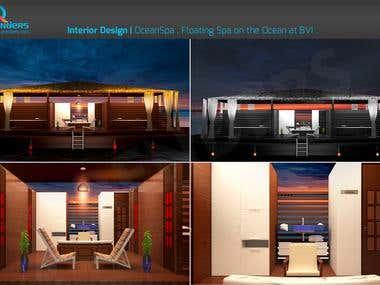 Spa Room (3D Interior Rendering)