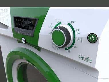 Diseño, modelado y renderizado de lavarropas