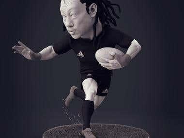 Tana Umaga 3D sculp