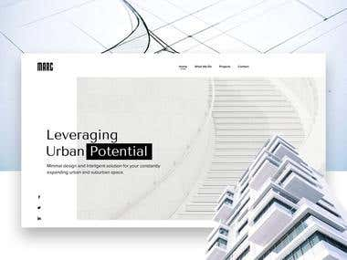 Real estate company homepage design