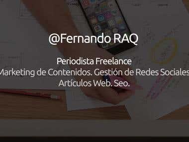 Conoce el portafolio de Fernando Ruiz de Alarcón.