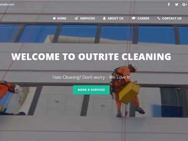 Outrite cleaning website development and seo