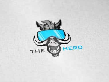 "logo for group of divers called ""the herd"""