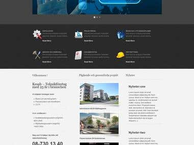 WordPress Corporate site
