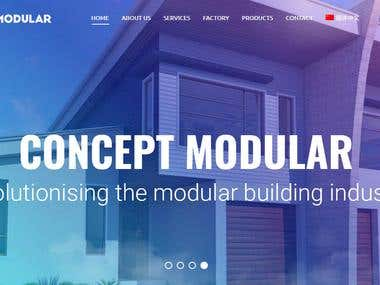 Concept Modular Wordpress Multilang Website