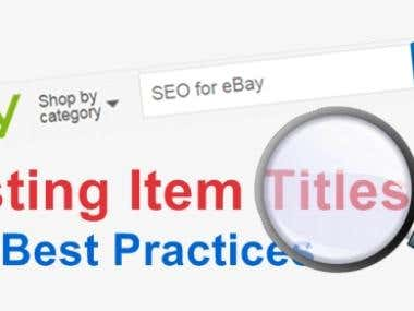 eBay optimization and SEO - Long term project