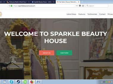 Social Media MArketing for salon website