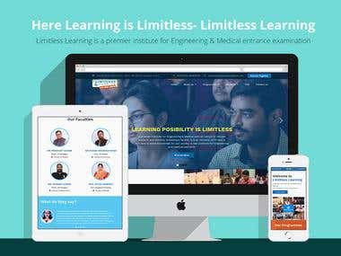 Website with discussion forum for learning institute