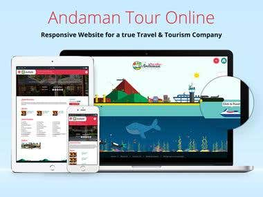 Engaging animated website for Andaman Tour Online