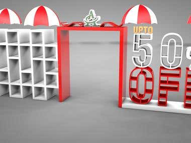 3D Designs for Promotional Display