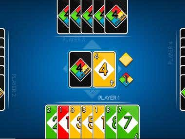 Four Color Playing Card Game