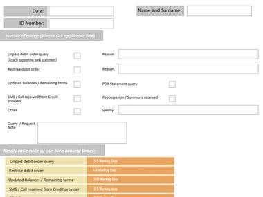 Editable PDF Form