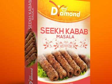 Diamond Seekh Kebab Packaging Design