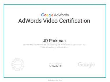 Google AdWords Video Certification 2018