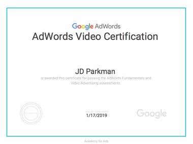 Google AdWords Video Certification 2018