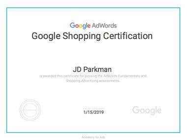 Google Shopping Certification 2018
