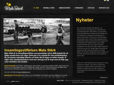 A Swedish website screen shot