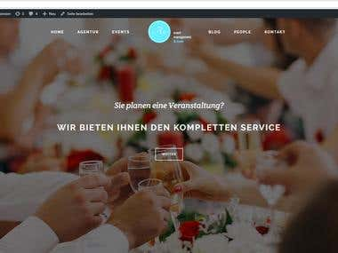German website for event manager