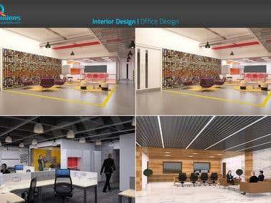 3D Interior Office Rendering