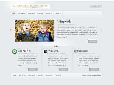 Corporate website built with WordPress.