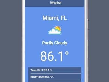 Ionic Weather App