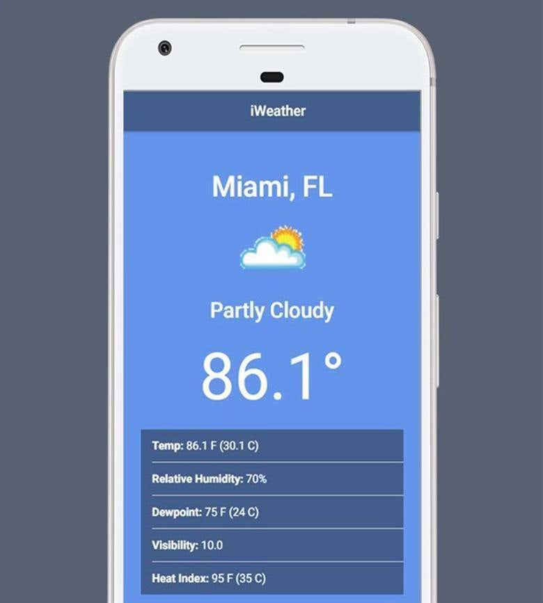 Ionic Weather App | Freelancer