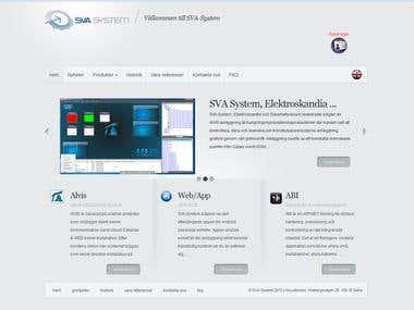 Corporate website in WordPress