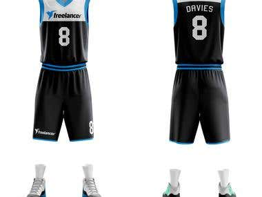 Basketball jersey for Freelancer team