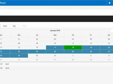 Responsive Calendar using AngularJS