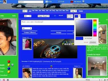 Social Network site (FaceiP)