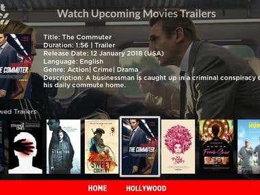 Latest Movies Trailers (Roku App)