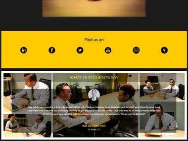 Landing page for J. Alex. Law