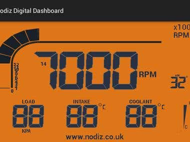 NODIZ Digital dashboard