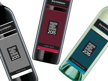 Balhannah Estate Wine Labels
