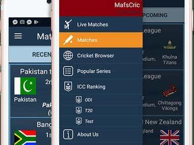 MafsCric - Live Cricket Match (Android)
