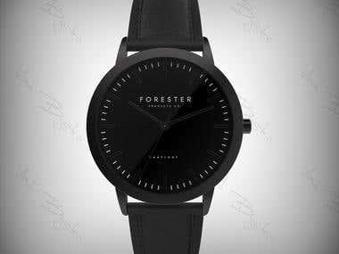 Wristwatch 3D modeling