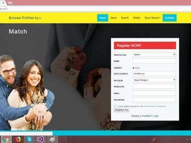 Matrimonial Custom responsive Web Application
