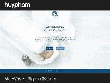 BlueWave - Sign In System