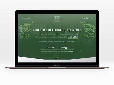 UI website design for yoga centre