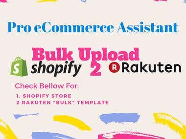 Shopify To Rakuten Bulk Product Upload