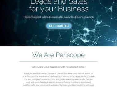 Website from scratch - Periscope Media
