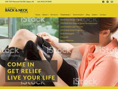 Website deign for back & neck rehab based out of Alberta