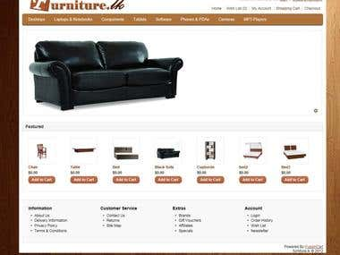 furniture.lk : online Shopping Cart
