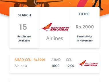 Online Air Tickets Booking App
