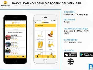 Bakkaldan - On Demand Grocery delivery App