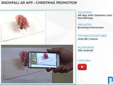 Snowfall AR App - Christmas Promotion